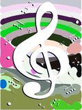 Abstract Musical background colorful Stock Image