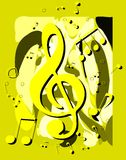 Abstract Musical background colorful. An abstract illustration with treble clef and note. A nice background usable not only for project about music, but for stock illustration