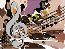 Abstract Musical background colorful Royalty Free Stock Images