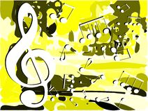 Abstract Musical background colorful Stock Images