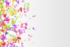 Abstract musical background with colorful tunes. Colorful tunes - music style stock illustration