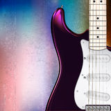 Abstract musical background electric guitar Stock Image