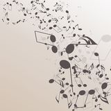 Abstract musical background Stock Photography