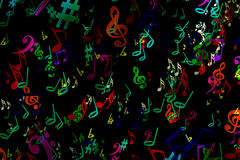 Abstract musical background. in graffiti style. Notes. Music. Fa Stock Photos