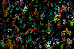 Abstract musical background. in graffiti style. Notes. Music. Fa Royalty Free Stock Photography