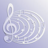 Abstract musical background. Illustration of abstract musical background Stock Image