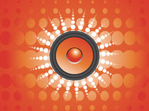 Abstract musical background,  illustration Royalty Free Stock Photography