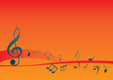 Abstract musical background with music notes Stock Image