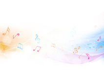 Abstract musical background with musical notes. Stock Photography