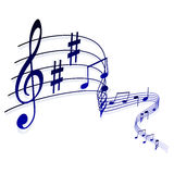 Abstract musical background, notes Stock Images