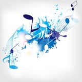 Abstract musical background with notes Stock Images