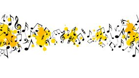 Abstract musical background with notes. Illustration of Abstract musical background with notes stock illustration