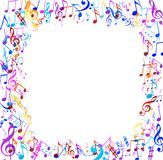 Abstract musical background with notes Stock Image