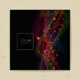 Abstract musical background - notes. Transparent color waves. Background of glowing light effect. Space for your message. Eps 10 vector illustration stock illustration