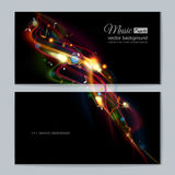 Abstract musical background - notes. Transparent color waves. Background of glowing light effect. Space for your message. Eps 10 vector illustration royalty free illustration