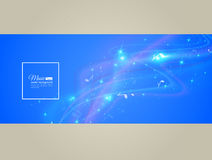Abstract musical background - notes. Transparent color waves. Background of glowing light effect. Space for your message. Eps 10 vector illustration vector illustration