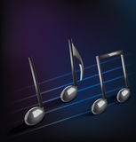 Abstract musical background with notes Stock Photos
