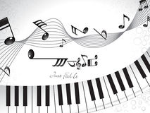 Abstract musical background with piano Royalty Free Stock Photos