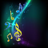 Abstract musical background. Royalty Free Stock Photos