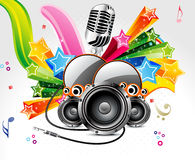 Abstract musical background with sound. Vector illustration Stock Illustration