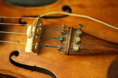 Abstract musical background is the violin toned photo Royalty Free Stock Photos