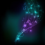 Abstract musical background. Royalty Free Stock Photo