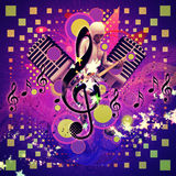 Abstract Musical Background With Guitar Player Stock Photo