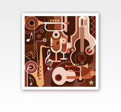 Abstract Musical Composition Stock Photo