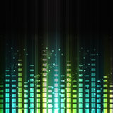 Abstract musical equalizer. Stock Photos