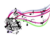 Abstract musical grunge vector. Illustration Royalty Free Stock Images