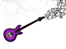 Abstract musical guitar background Royalty Free Stock Photo