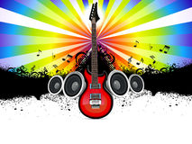 Abstract musical guitar Stock Photo