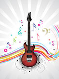 Abstract musical guitar with wave Royalty Free Stock Image
