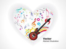 Abstract musical heart. Vector illustration Stock Photography