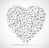 Abstract musical heart background Stock Photo