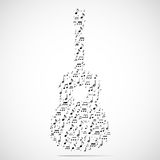 Abstract musical instrument background Stock Images