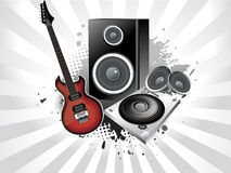 Abstract musical instruments. With grunge vector illustration Stock Illustration
