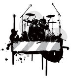 Abstract with musical instruments Royalty Free Stock Photography