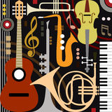 Abstract musical instruments Royalty Free Stock Images