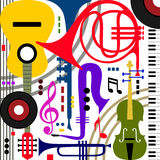Abstract musical instruments Stock Photography