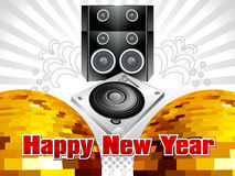 Abstract musical new year background. Vector illustration Stock Images