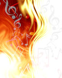 Abstract musical notes Stock Photo