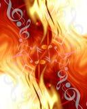 Abstract musical notes Stock Photos