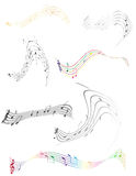 Abstract musical notes stock vector illustration Royalty Free Stock Image