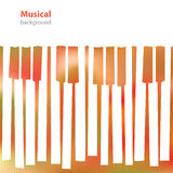 Abstract musical piano keys - business card - blank background Stock Images
