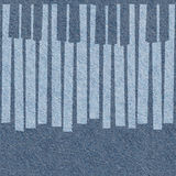Abstract musical piano keys - seamless background - blue jeans Royalty Free Stock Images