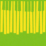 Abstract musical piano keys - seamless background - citrus textu Stock Photography