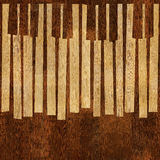 Abstract musical piano keys - seamless background - different co Royalty Free Stock Image