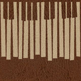 Abstract musical piano keys - seamless background - leather text Royalty Free Stock Photo