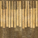 Abstract musical piano keys - seamless background - wood texture Stock Photo